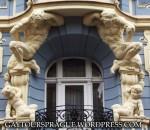 Homoerotic sculptures in Prague